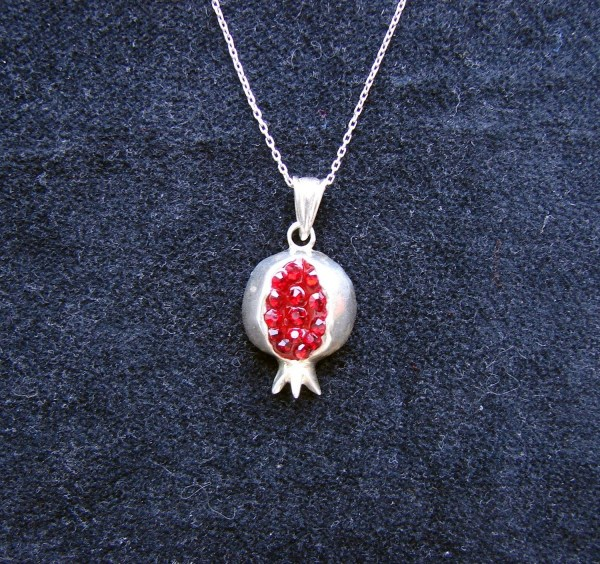 Necklace Pomegranate Sterling Silver 925