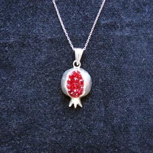 Necklace Pomegranate Sterling Silver 925