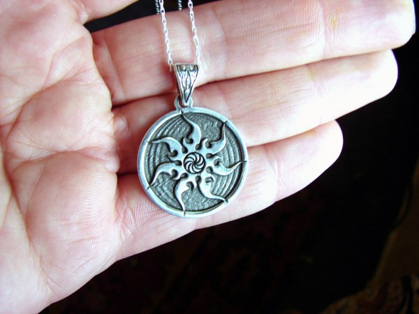 Pendant Sun and Wheel of Eternity 925 Sterling Silver