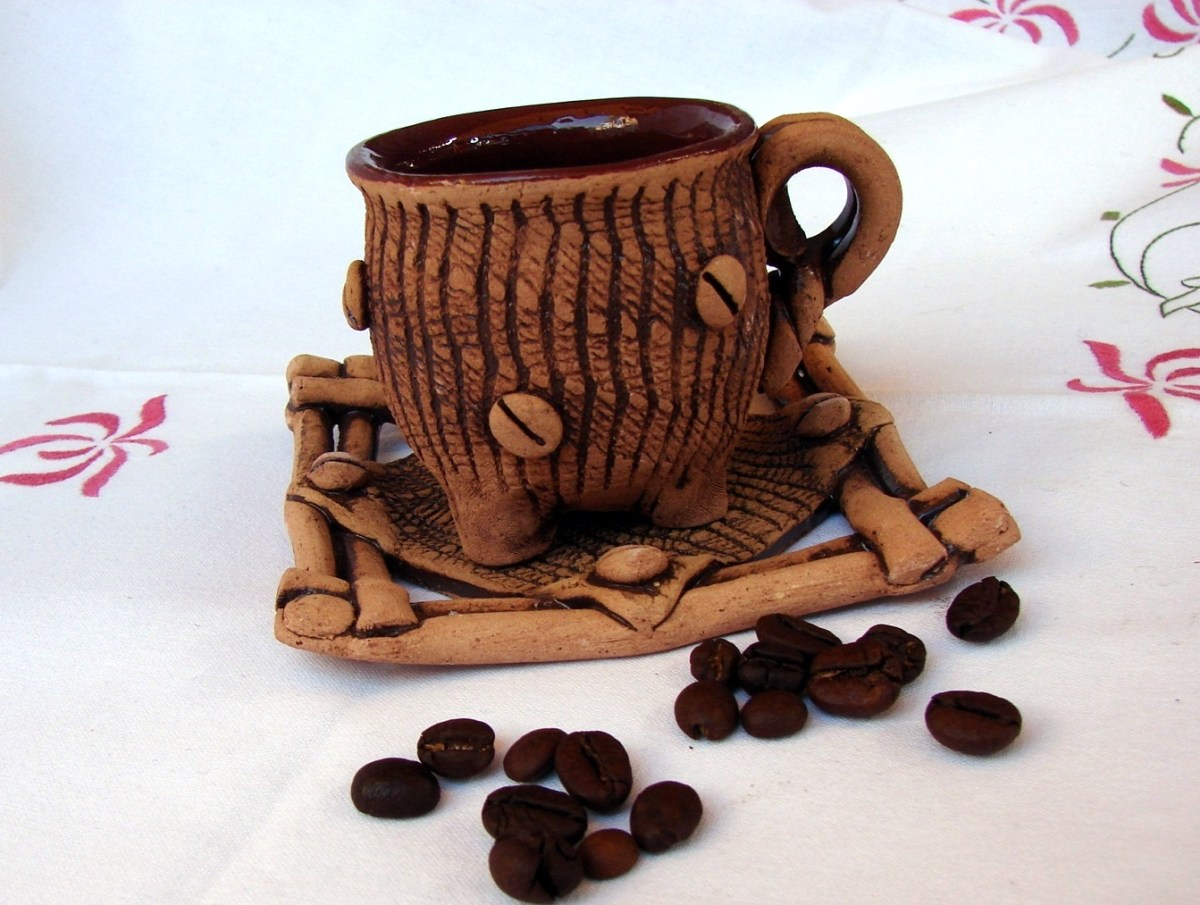 Ceramic Coffee cup with plate