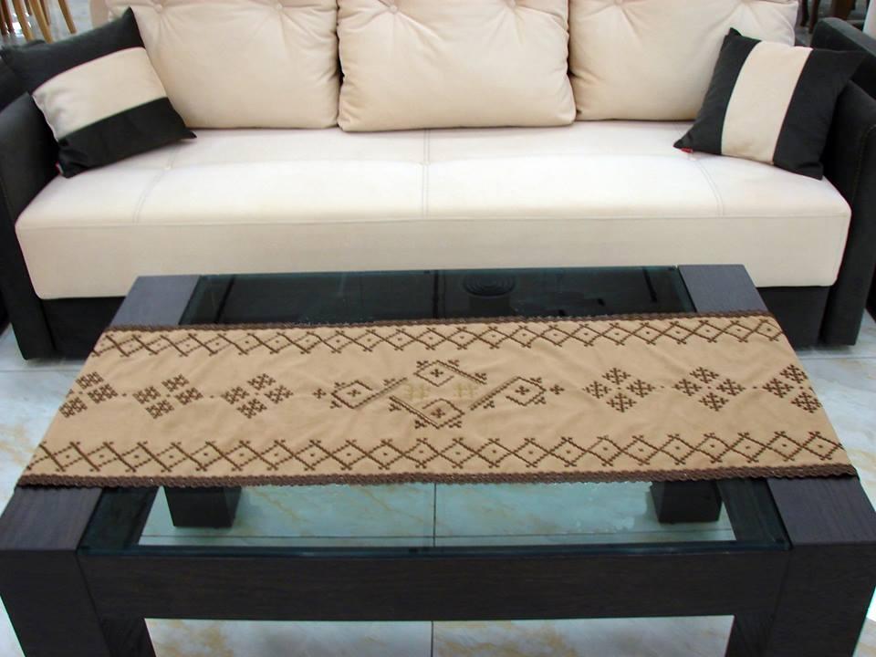 Handmade Runner Velvet Tablecloth Armenian Marash Embroidery Handcrafted Kutch