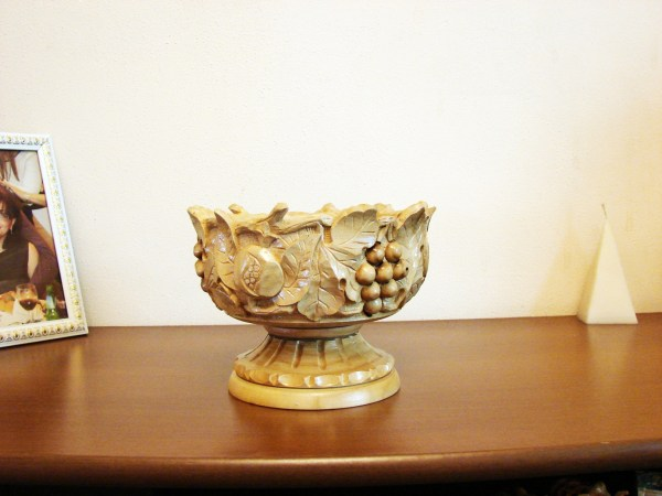 Hand Carved Natural Wooden Bowl,Vase