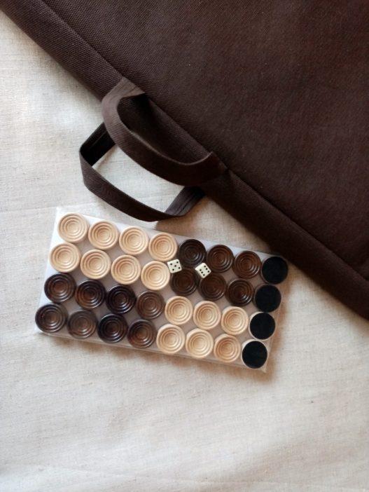 Wood Backgammon Set, Handmade Armenian Nardi Nardy