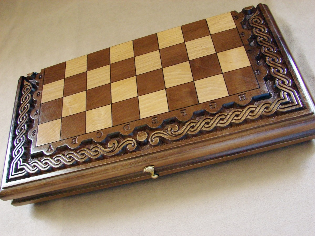 Handmade Wooden Chess Board