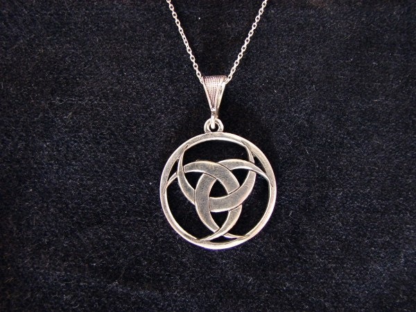 Pendant Triple Moon Goddess Pagan Symbol Sterling Silver 925