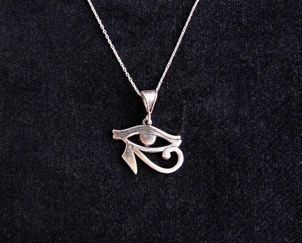 Pendant Eye of Horus Ra Egyptian Amulet Sterling Silver 925