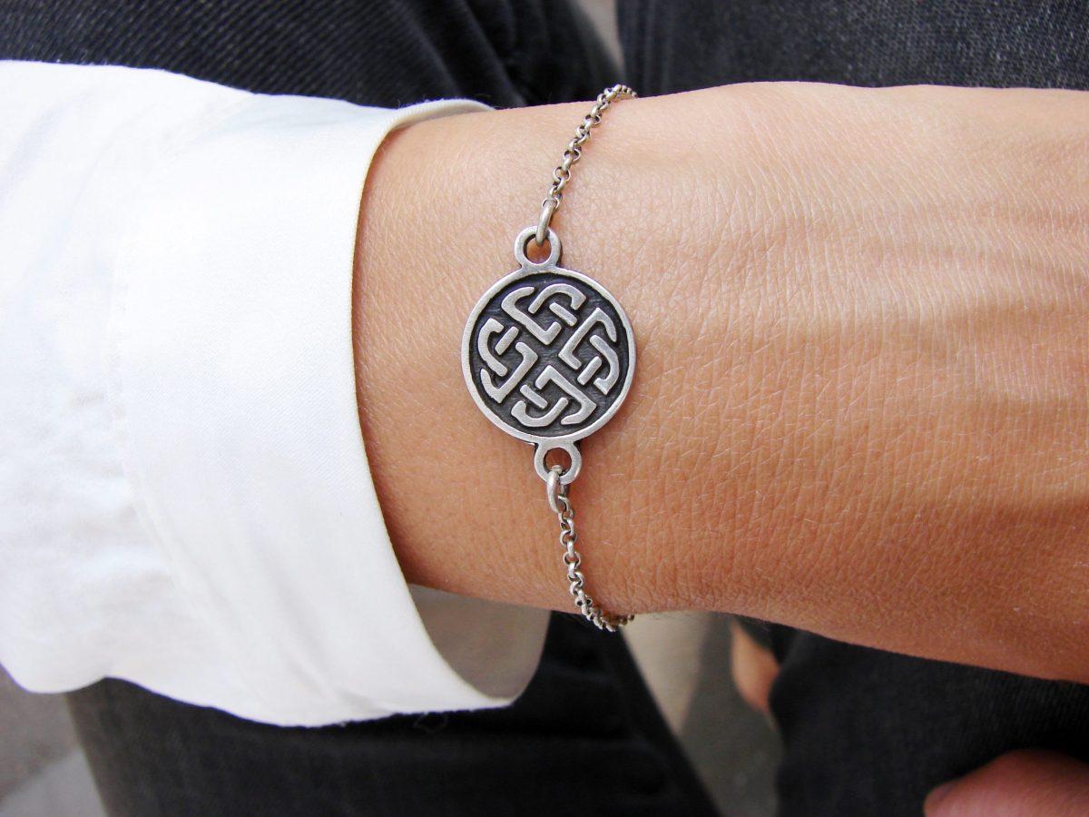 Celtic Shield Knot Bracelet Sterling Silver 925