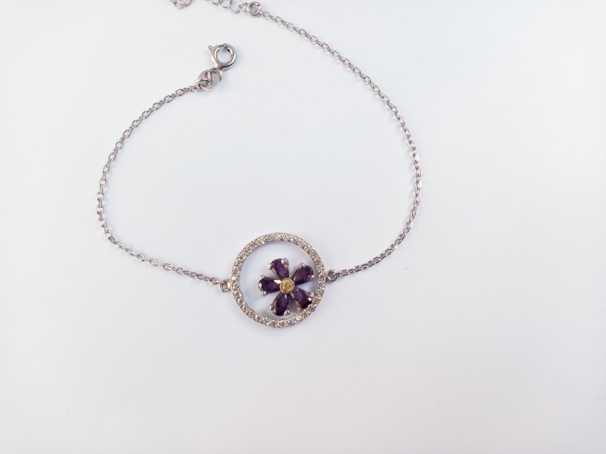 Forget me Not Flower Bracelet Silver 925, Anmoruk