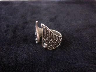 Silver Ring Angel Wings, Adjustable Ring