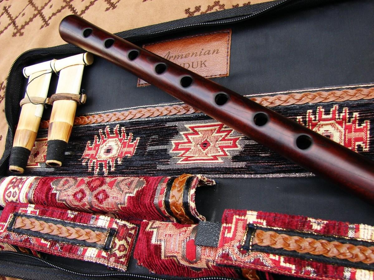 Armenian Concert Grade Duduk, Hard Ornament Case, Key A, B, C, D, F, G, H
