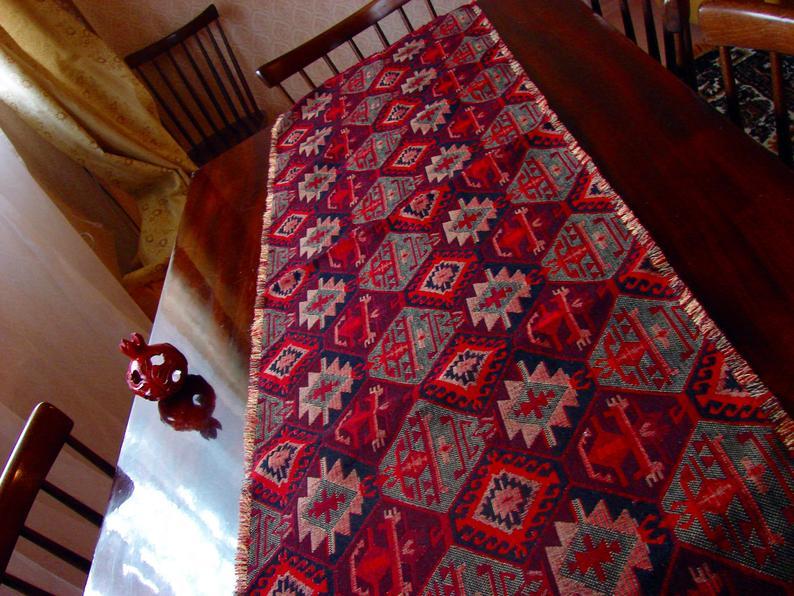 Table Runner Armenian Carpet Ornament