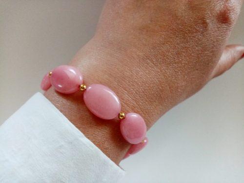 Bracelet Natural Morganite Gemstone Beaded