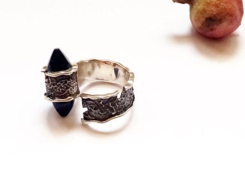 Blue Aventurine Ring, Sterling Silver 925, Healing Stone Gift, Star Stone Ring
