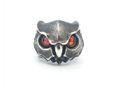Owl Ring Sterling Silver 925, Ring for Women and Men, Unisex Punk Ring, Creative Owl Ring.