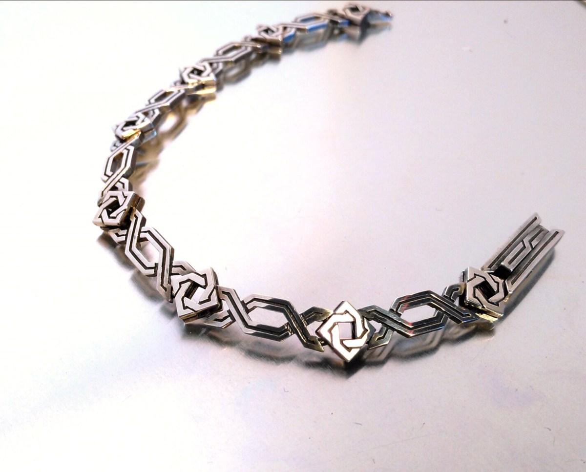 Bracelet For Men Antient Style Sterling Silver 925
