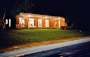 Pavilion at night time