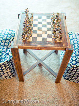Diy Chess Or Checkers Table