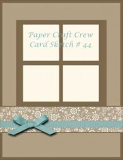 Paper Craft Crew Postage Due for Sketch 44