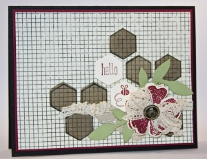 SUOC 103 Geometric Shapes Challenge design team card created by Pam Staples #sunnygirlscraps #stampinup #hexagonhive