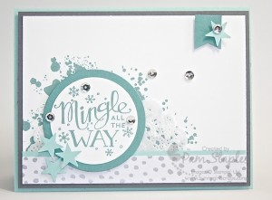 Mingle All The Way Card created by Pam Staples for the RemARKables Pinworthy Blog Tour.