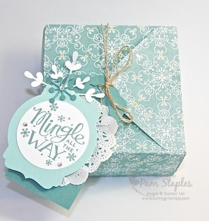 Handmade Gift Box and Tag created by Pam Staples featuring the Box Punch Board