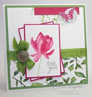 Lotus Blossom Thank You Card by Pam Staples