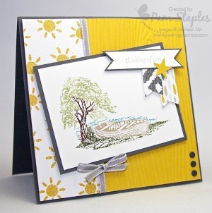 Paper Craft Crew Card Sketch 130 Design Team submission by Pam Staples, Sunny Girl Scraps and Stampin' Up! Independent Demonstrator. #stampinup #sunnygirlscraps #pamstaples #moonlake