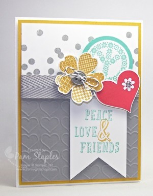 Handmade Card created for the Create with SUO Challenges 117 by Pam Staples featuring the Peace, Love and Cupcake Stamp Set. #stampinup #pamstaples #serenesilhouettes #sunnygirlscraps
