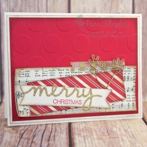 Handmade Christmas Card by Pam Staples for the Can You Case It? Challenge Blog.