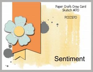 Paper Craft Crew Card Sketch 170. #papercraftcrew #pamstaples
