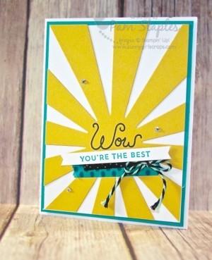 Sunburst Sayings Wow Card created by Pam Staples #sunburstsayings #stampinup #pamstaples #sunnygirlscraps