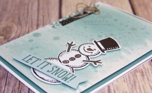 Snow Place Wintertime Wonderland Snowman created by Pam Staples #stampinup #pamstaples #snowplace