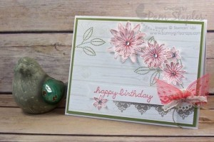 Grateful Bunch Happy Birthday Card created by Pam Staples for the Paper Craft Crew Tic Tac Toe Challenge 186. #pamstaples #sunnygirlscraps #stampinup #papercraftcrew