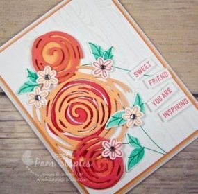 Swirly Bird Sneak Peek created by Pam Staples for the Paper Craft Crew Flower Theme Challenge. #swirlybird #stampinup #whimsical