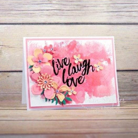 Can You Case It? Watercolor Sketch Challenge 124 design team card created by Pam Staples featuring the Layering Love Stamp Set. #stampinup #layeringlove #pamstaples #sunnygirlscraps