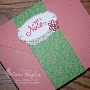 Shabby Chic Affectionately Yours Envelope Punch Board Card Box created by Pam Staples for the One Stamp At a Time Blog Hop. #osat #pamstaples #stampinup #shabbychic
