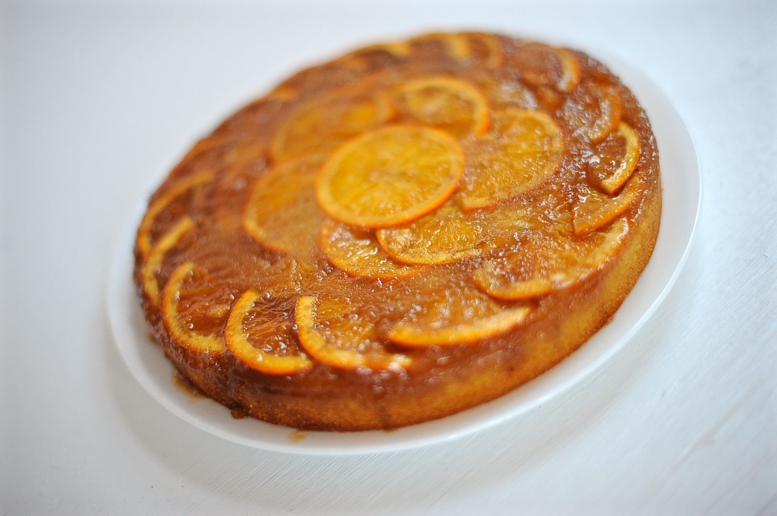 Orange Upside-Down Semolina Cake (Vegan)