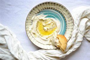 Labneh (Vegan, Paleo, Gluten Free) and Fresh Pita (Vegan)