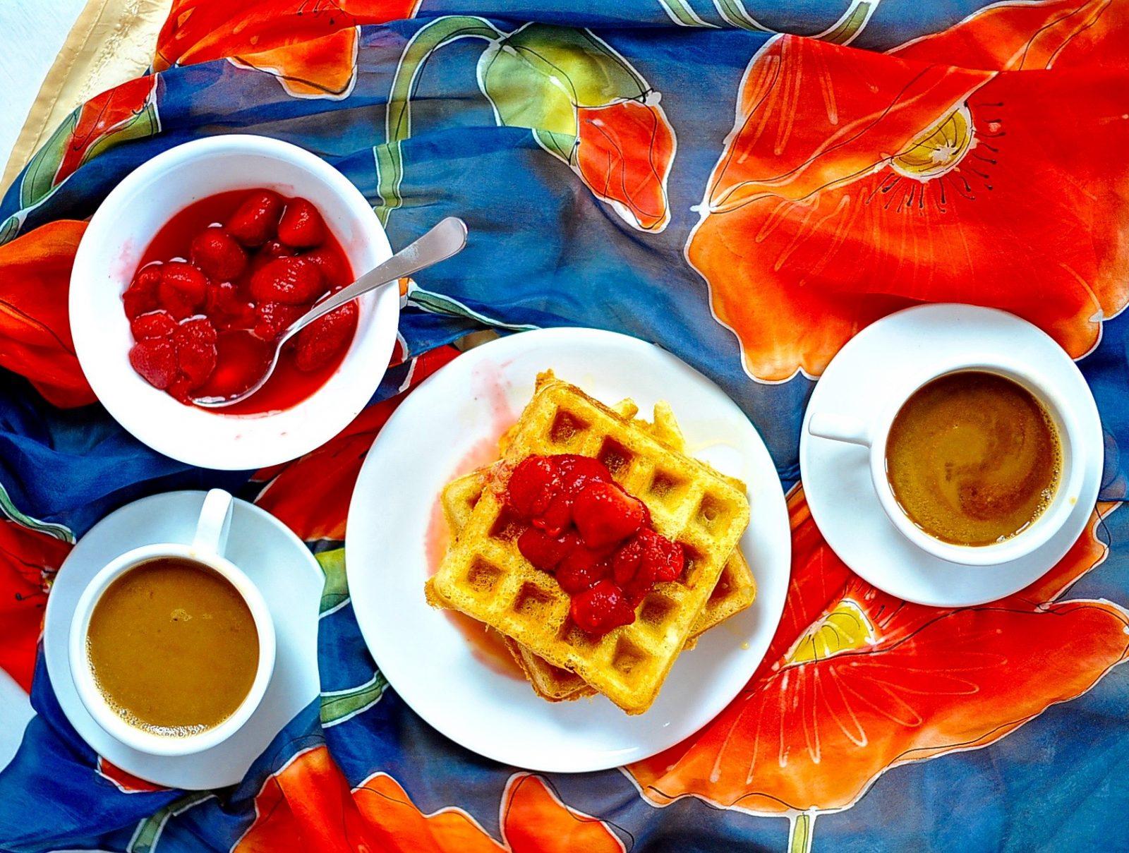 Vegan Raised Waffles, Yeasted Overnight Waffles (Aquafaba)