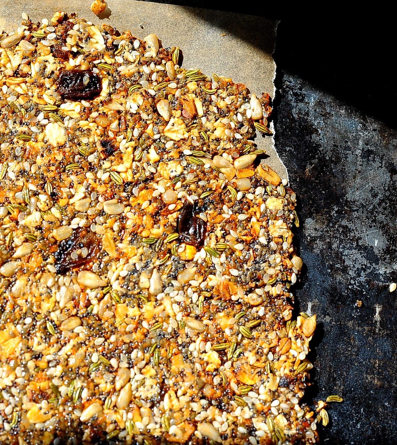 Seeded Rosemary Crackers (Vegan, Paleo, Gluten Free)