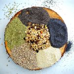 Seeded Rosemary Crackers, Gluten Free, Vegan