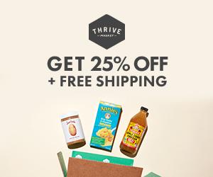 Thrive market Save 25%