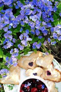 Blueberry Hand Pies with Lemon Glaze (Vegan)
