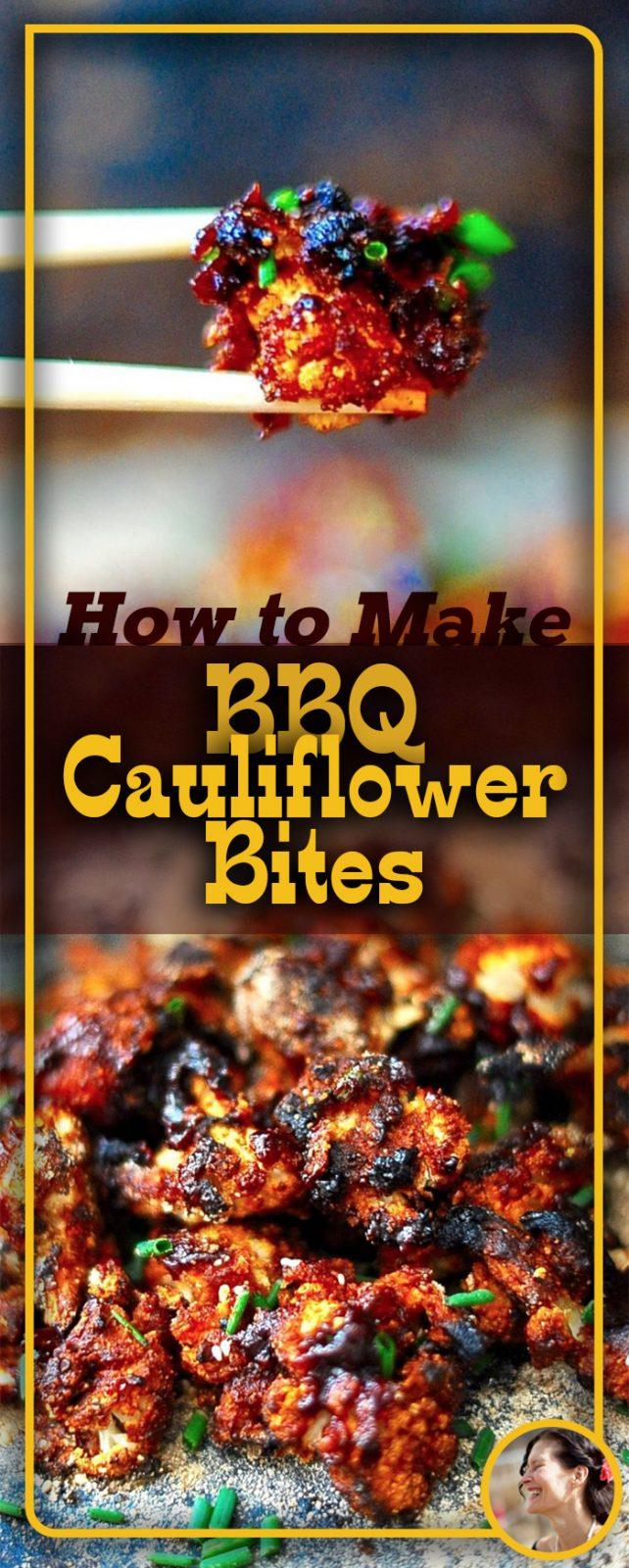 BBQ Cauliflower Bites (Vegan, Gluten Free)
