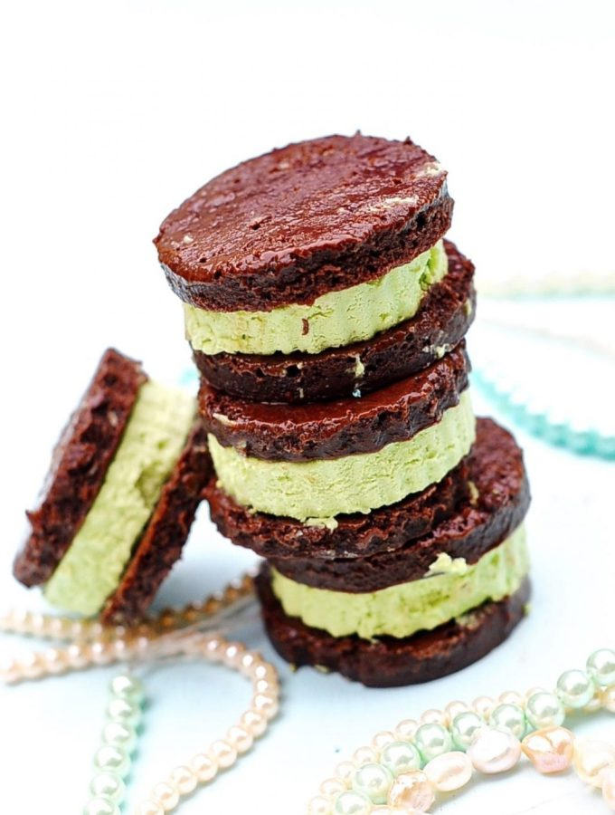 Matcha Mint Ice Cream Sandwiches (Vegan)