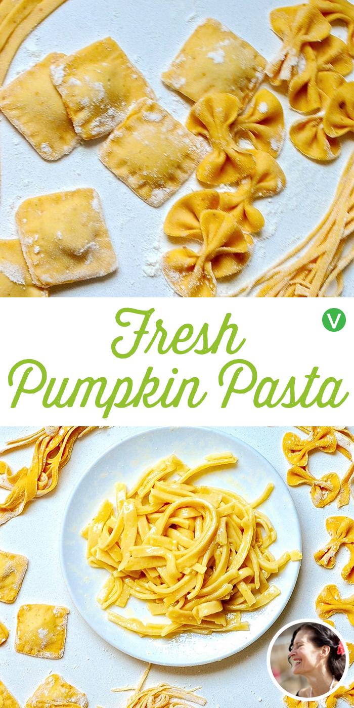 Fresh Pumpkin Pasta Dough (Vegan)