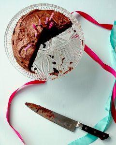 Dark Chocolate Cake with Nutella Frosting (Vegan, Gluten Free)