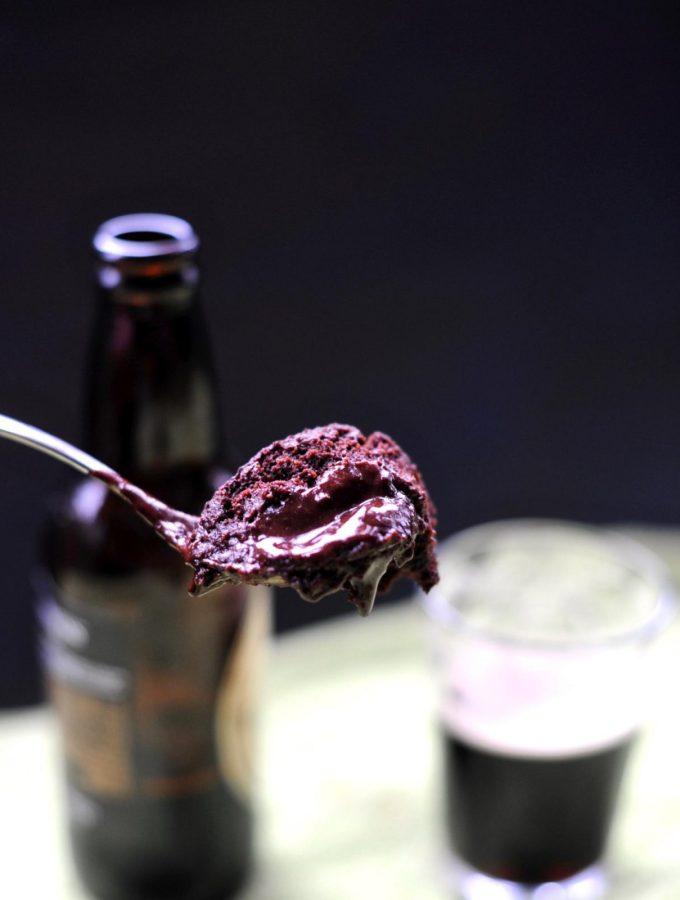 Dark Chocolate Guinness Mug Cake, Vegan, Gluten Free