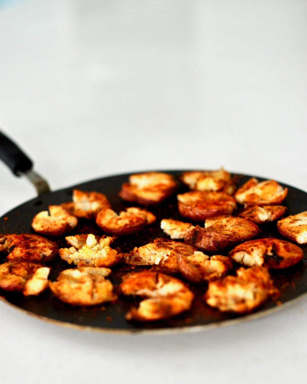 Taco Spiced Crispy Smashed Potatoes
