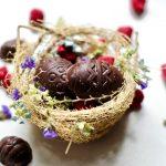 How to Make Chocolate Raspberry Easter Eggs (Vegan, Gluten Free)